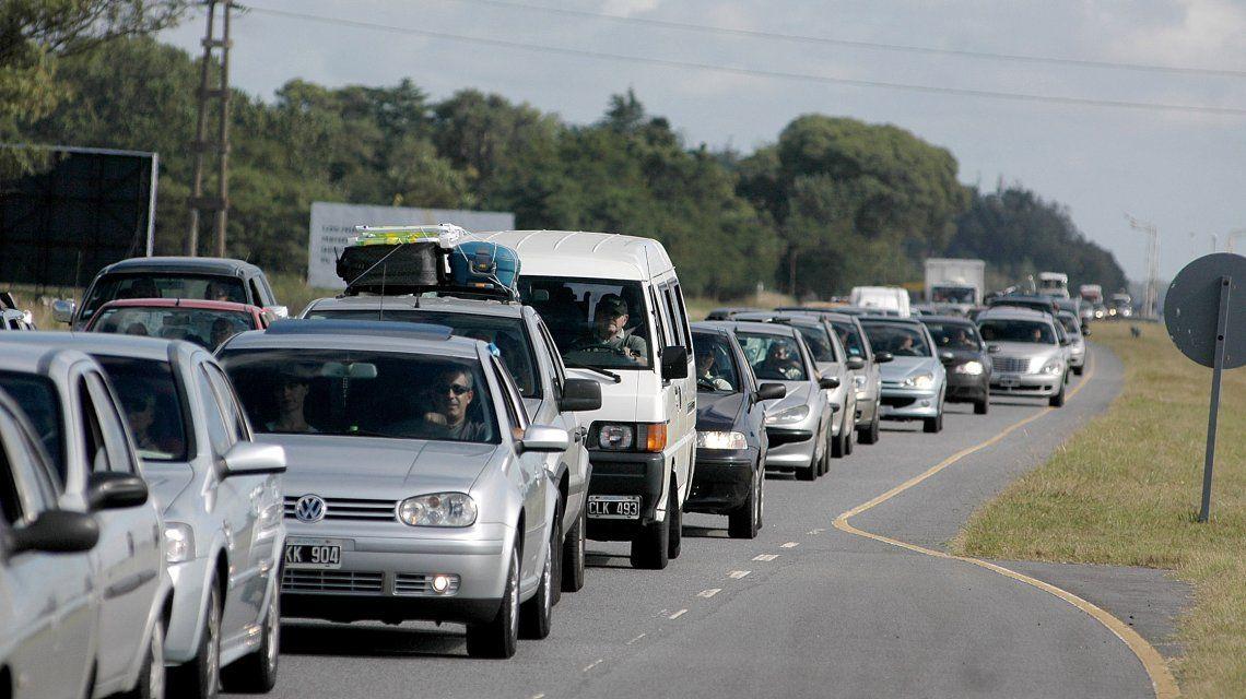 A Mar del Plata, a paso de hombre: más de 2.000 autos por hora en la Autovía 2