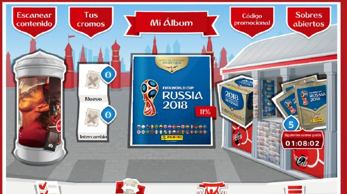 El álbum virtual de la Copa del Mundo 2018 es furor como el de papel