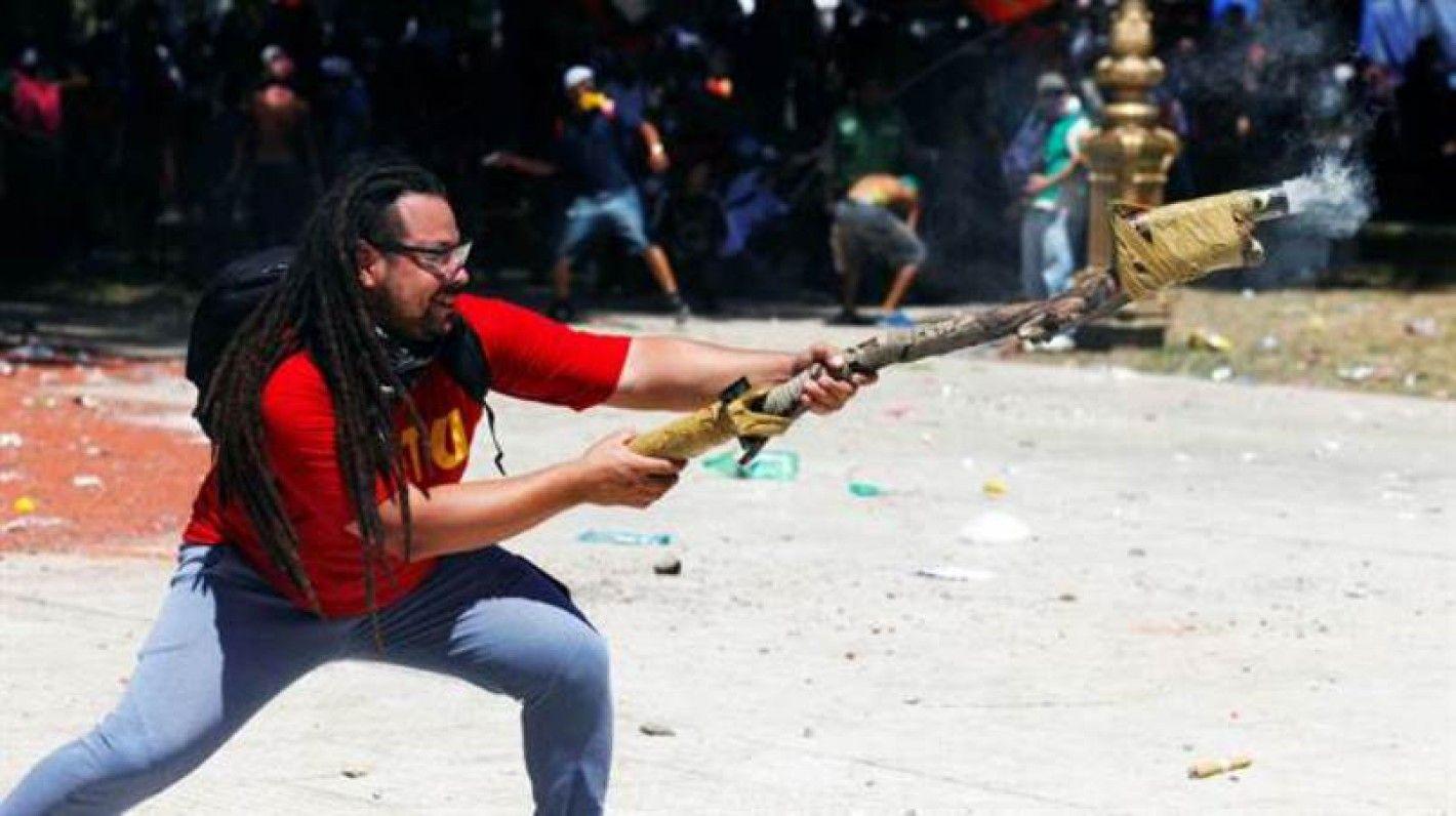 Sebastián Romero se hizo famoso en las protestas de diciembre de 2017