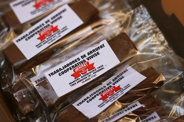 Los chocolates que elaboraron cuando comenzaron con la cooperativa<br>