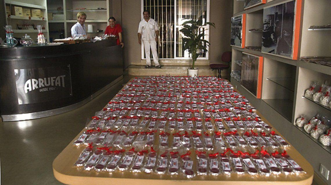 El salón de ventas de Arrufat lleno de chocolates