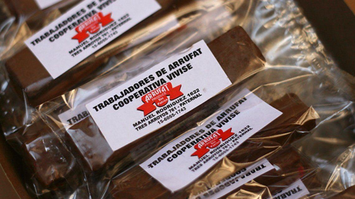 Los chocolates que elaboraron cuando comenzaron con la cooperativa