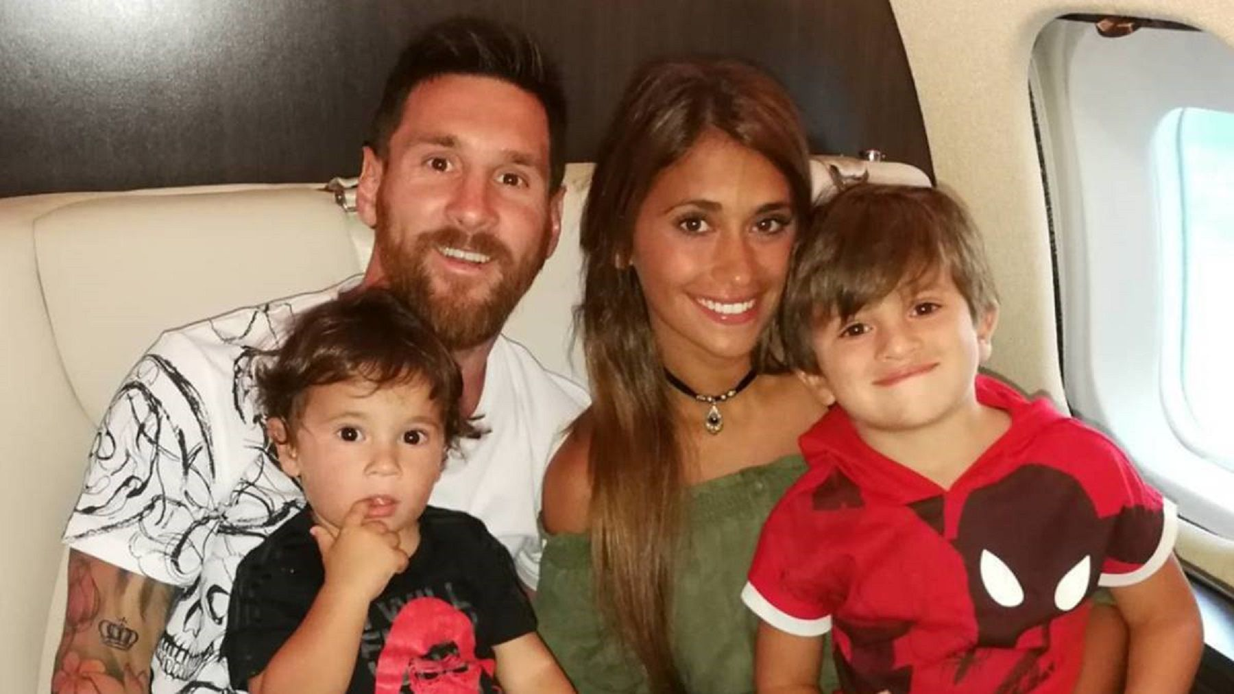 Lionel Messi estuvo con su familia antes del partido entre Argentina y Francia