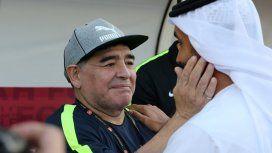 ¿Es una disculpa? El posteo de Maradona tras la boda de su hija