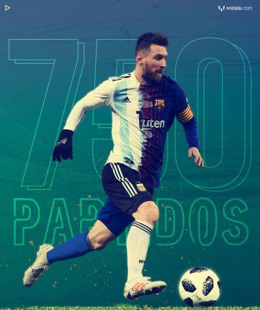 750 partidos oficiales de Messi