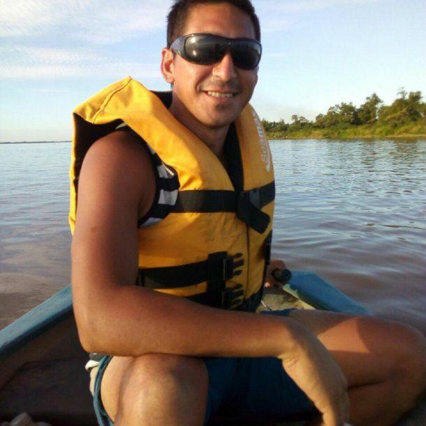 <div>Javier Potilló cayó al Paraná - Fuente: Facebook</div><div><br></div>