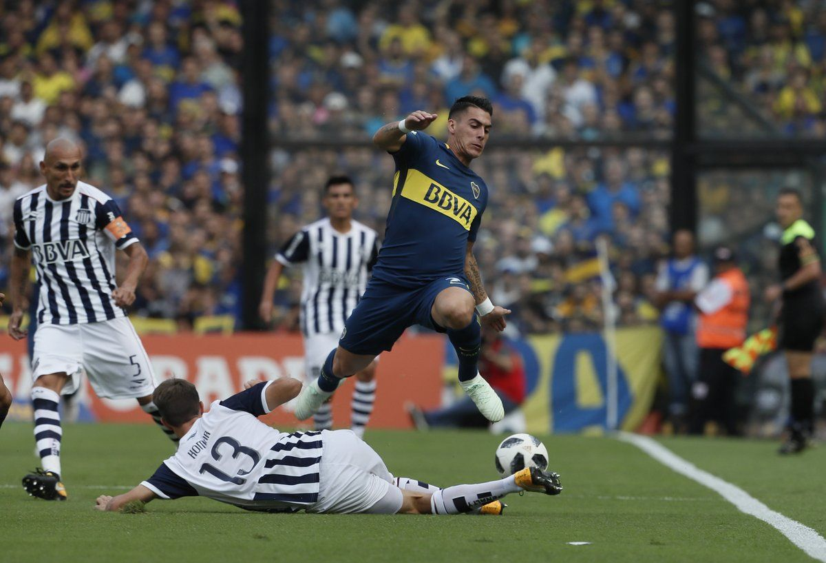 Pavón en Boca vs Talleres - Crédito: @BocaJrsOficial