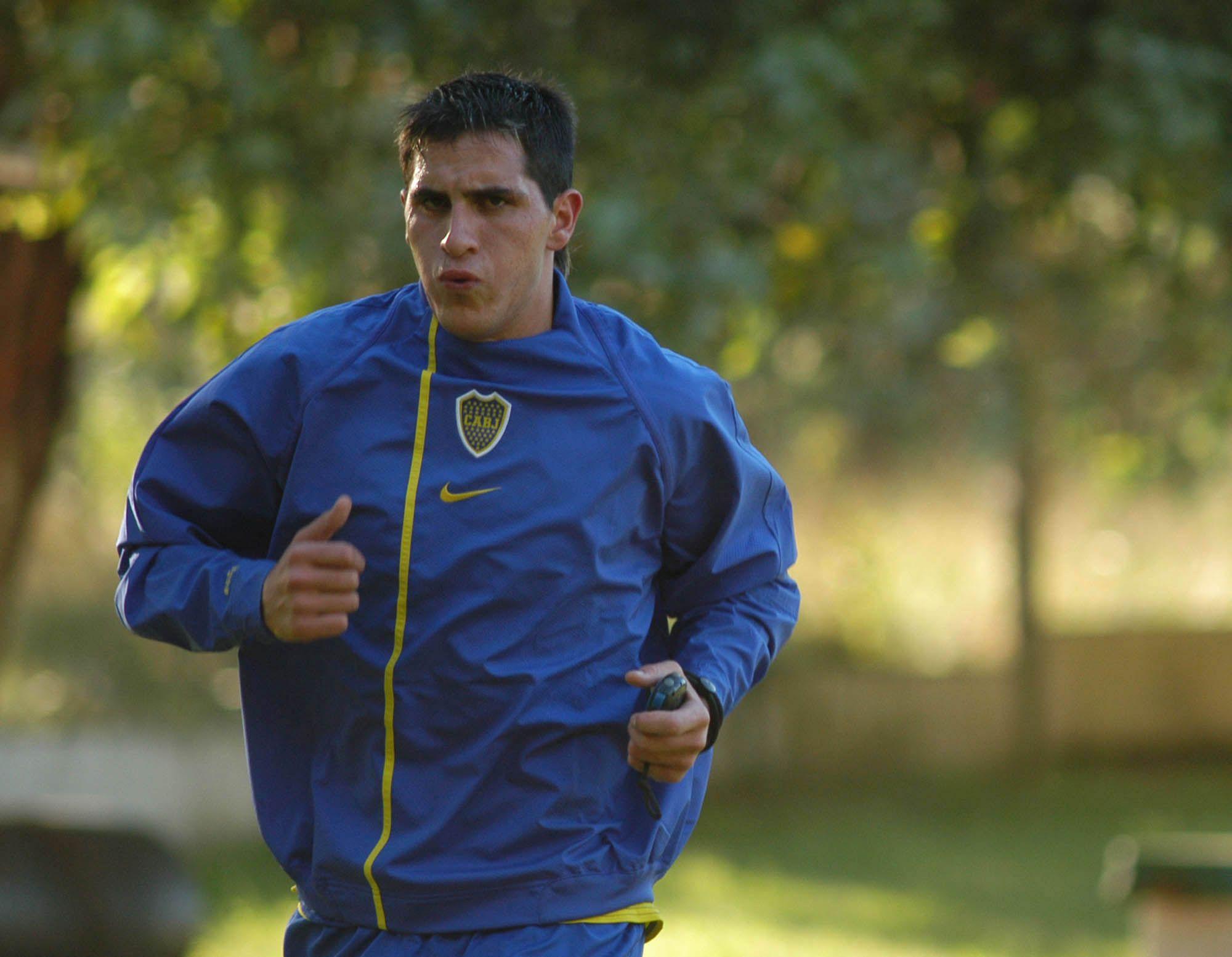 Pablo Migliore entrenado durante su paso por Boca