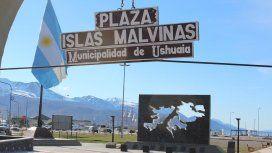 Plaza Islas Malvinas, sede del acto oficial