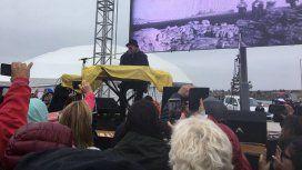 Alejandro Lerner cantó en Ushuaia por los combatientes de Malvinas