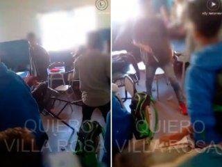 brutal pelea en un colegio de pilar: un chico entro con un cuchillo al aula