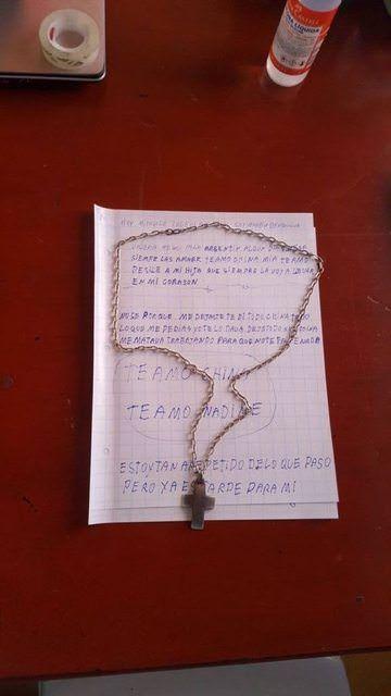 Esta es una de las cartas que dejó Betancur