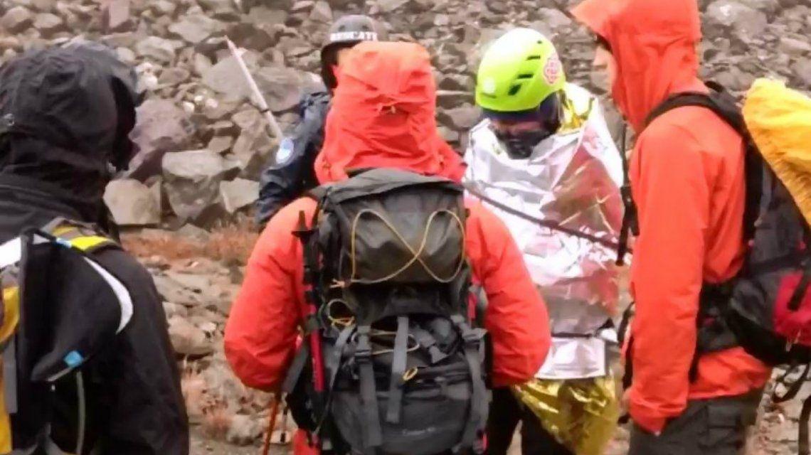 La Comisión de Auxilio de Ushuaia tuvo que rescatar a los tres turistas accidentados
