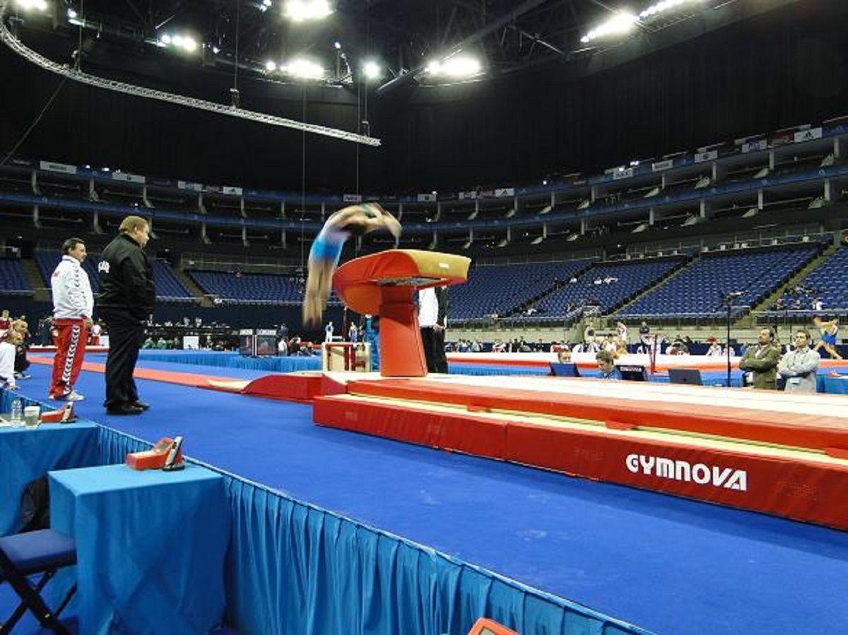 Gimnasta argentino en competición. Foto Ilustrativa.