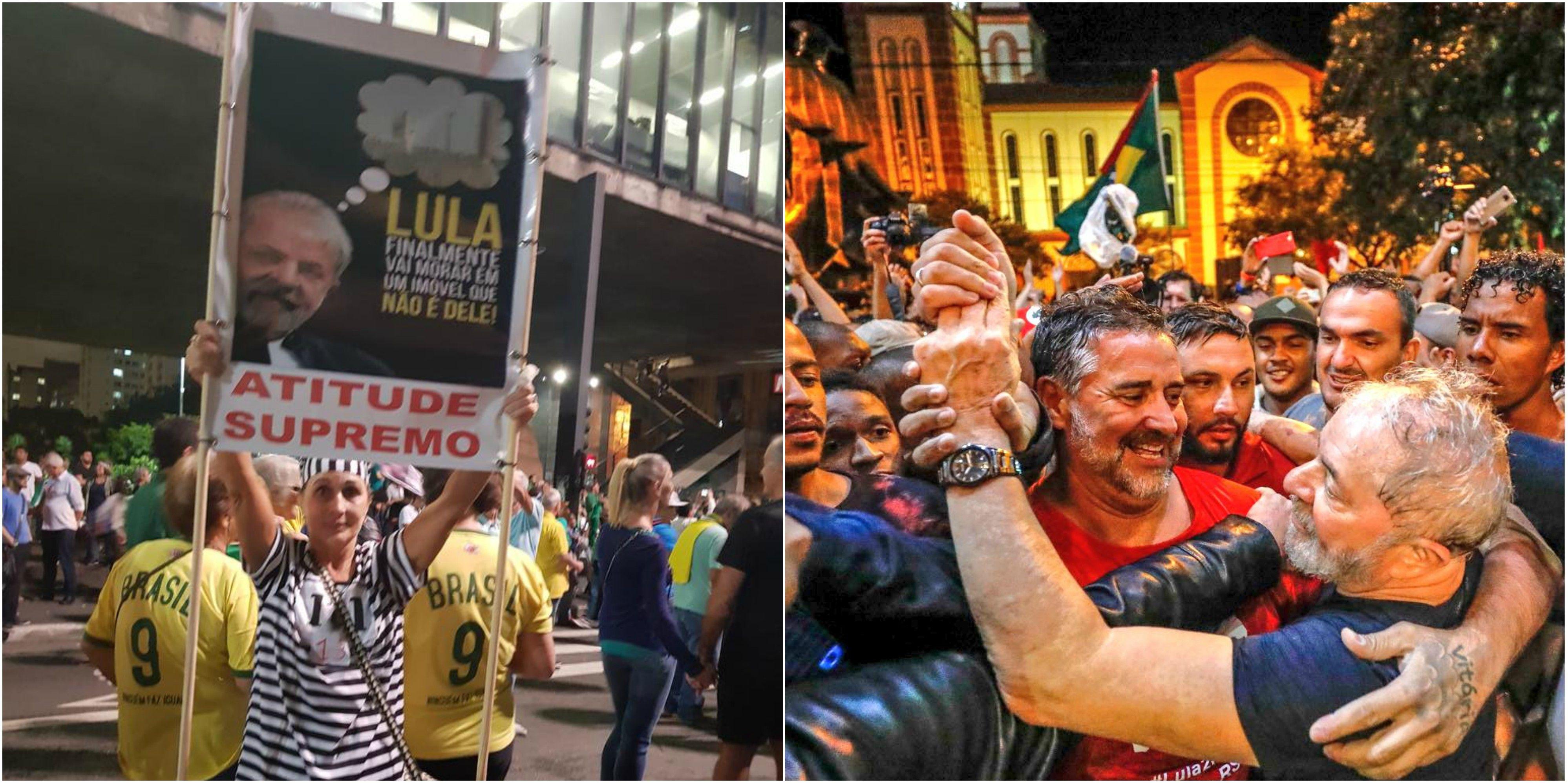 Marchas en contra y a favor de Lula