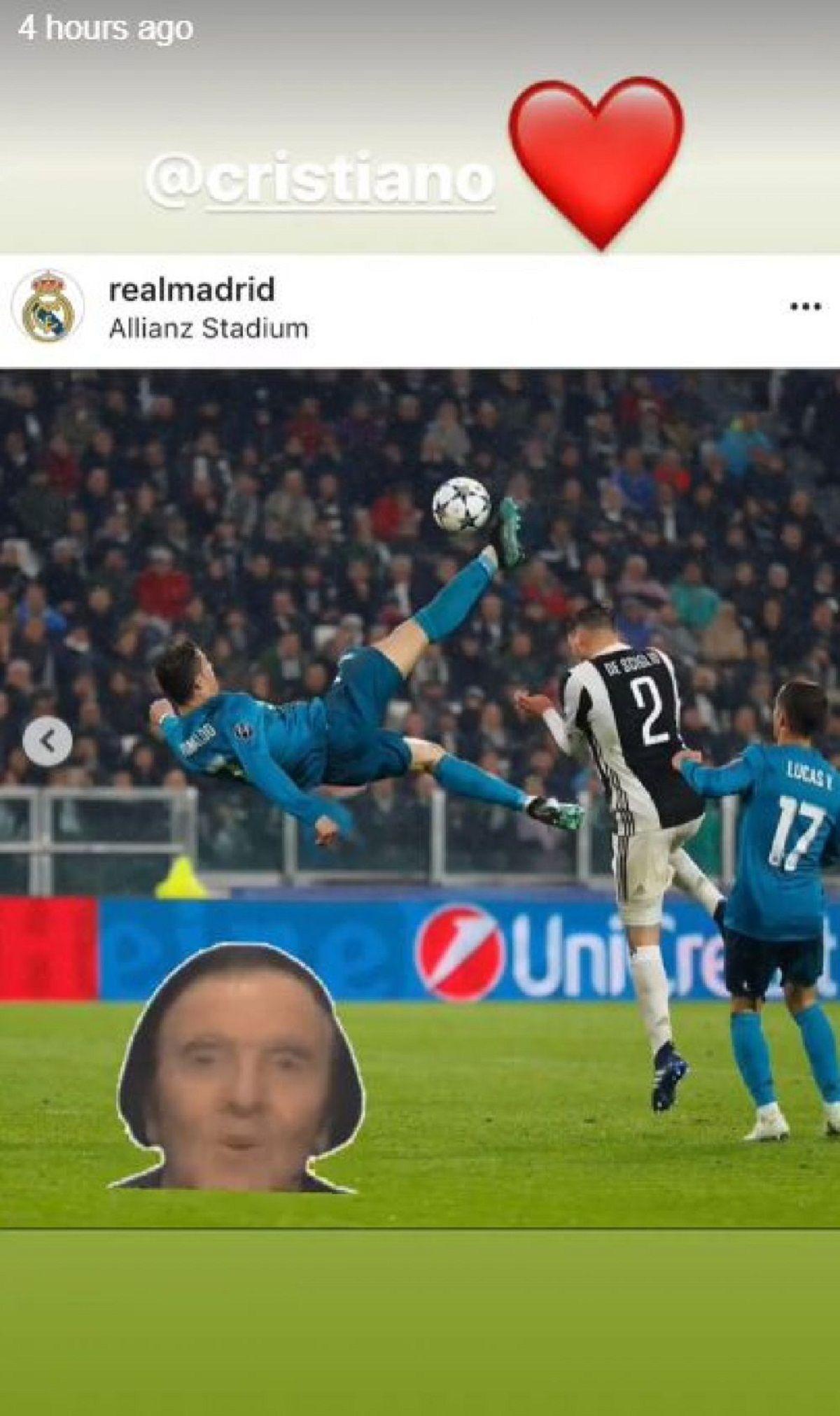 El meme de Cristiano Ronaldo en la cuenta de su novia