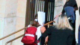 VIDEO: Así entró Natacha Jaitt a declarar a Tribunales