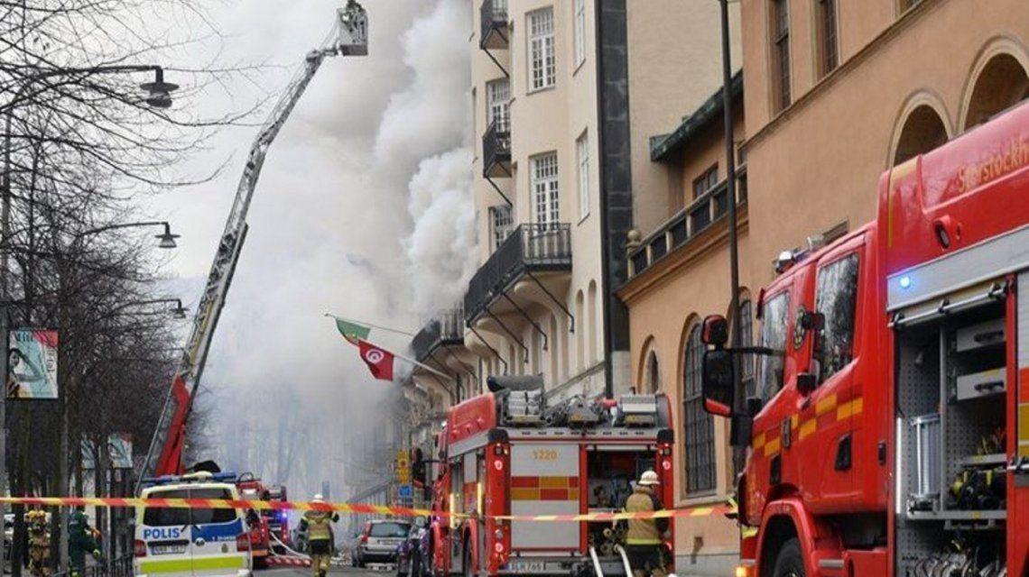 Un incendio en la embajada argentina en Suecia dejó 14 heridos