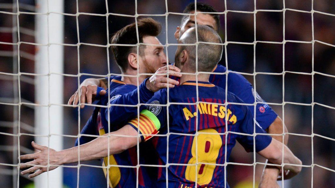 Barcelona goleó a la Roma y encaminó su clasificación a semis