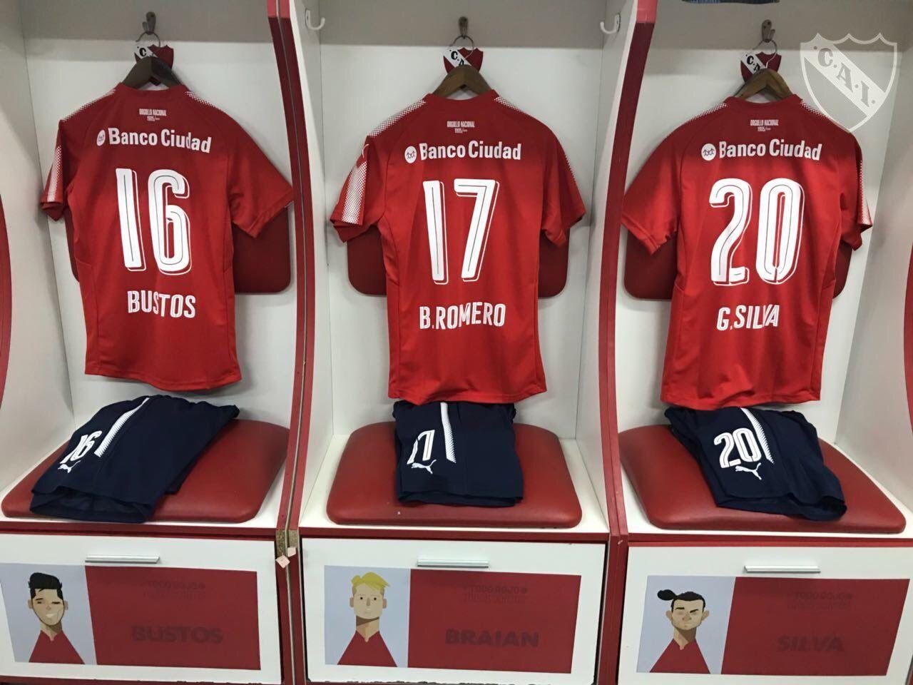 El vestuario de Independiente