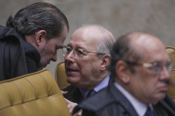 Los magistrados de la Corte Suprema Dias Toffoli y Celso de Mello <br>