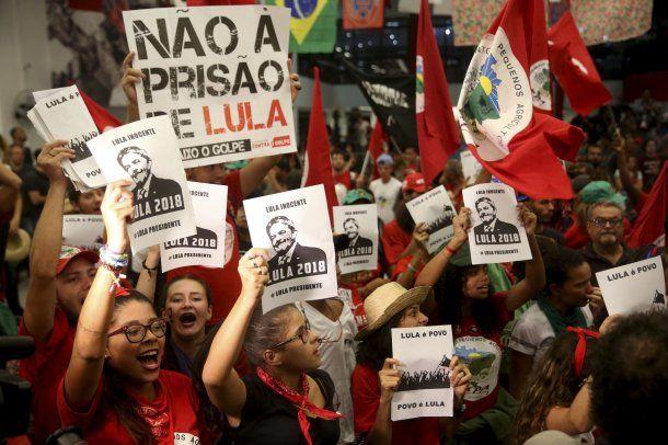 Partidarios de Lula se movilizaron por su candidatura<br>