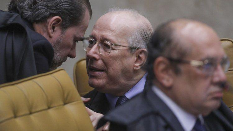 Los magistrados de la Corte Suprema Dias Toffoli y Celso de Mello