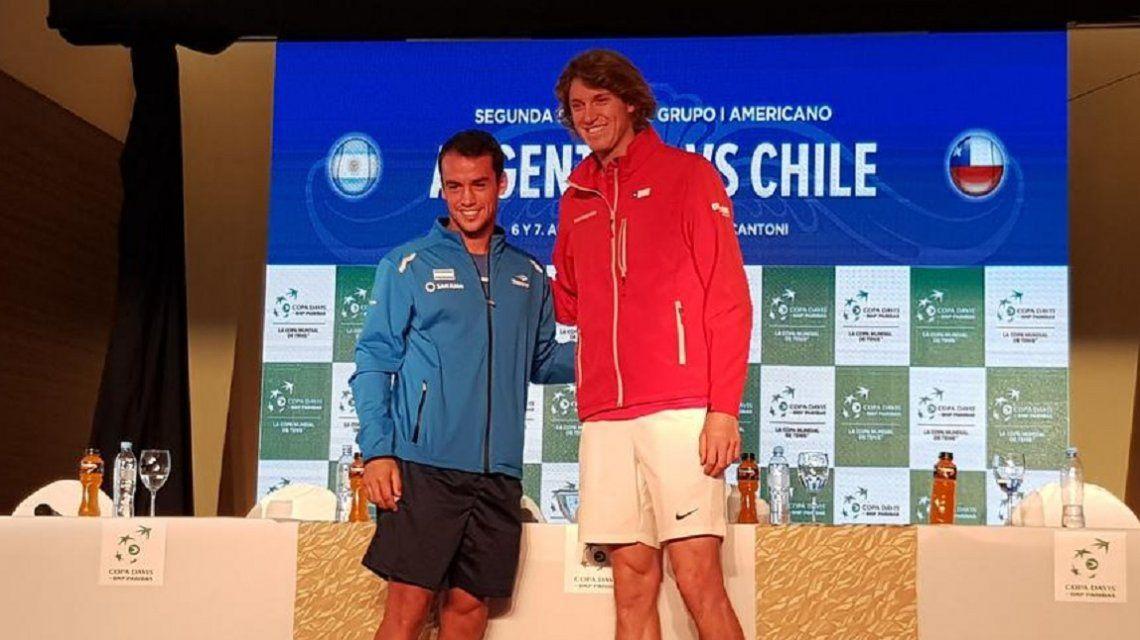 Se sorteó el clásico de la Copa Davis: así se jugará la serie entre Argentina y Chile