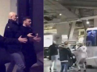 McGregor atacó un micro con luchadores de UFC