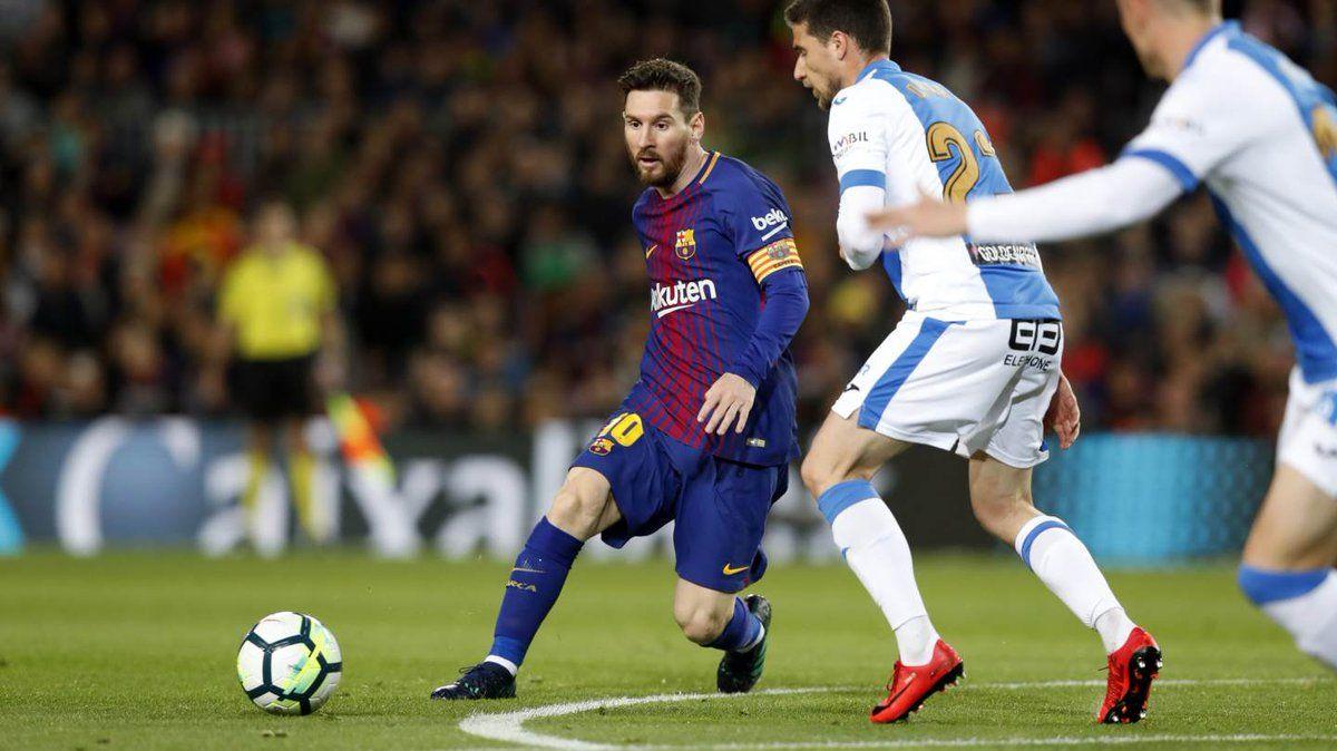 Messi en Barcelona vs Leganés