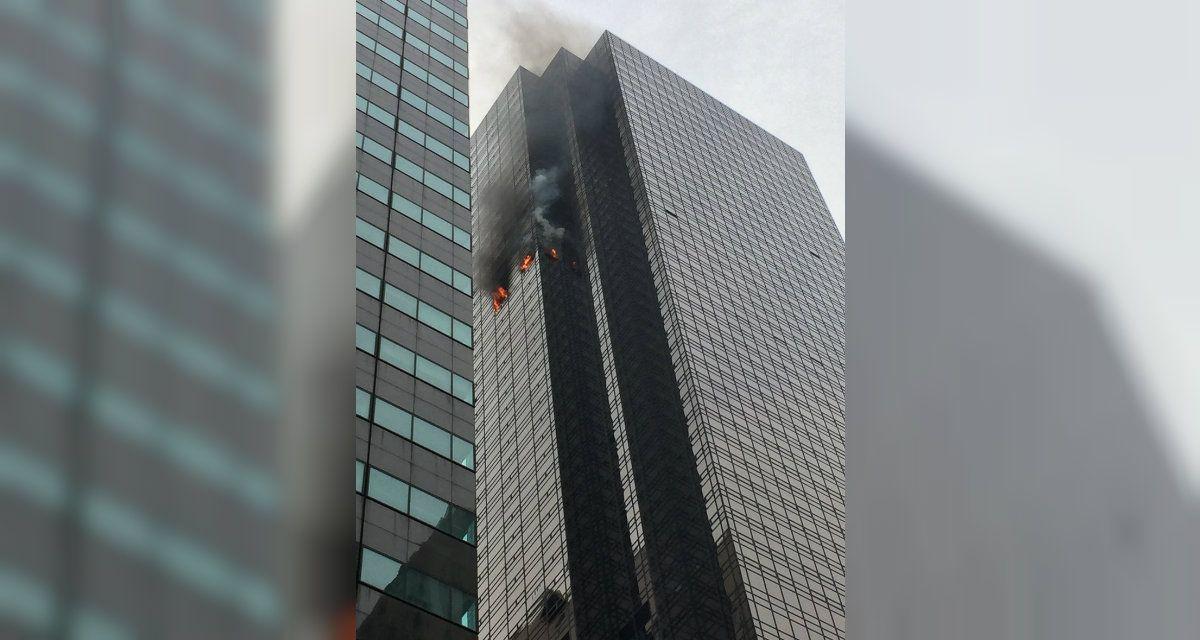 La policía ya controló las llamas surgidas en uno de los pisos de la Torre Trump