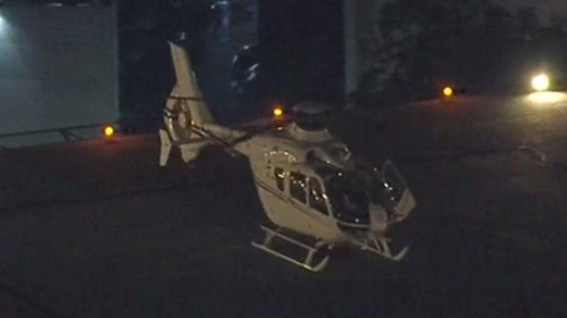 Éste es el helicóptero que traslada a Lula a Curitiba