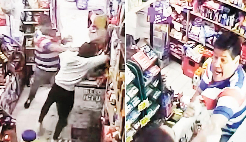VIDEO: No aceptó un billete de $2 y recibió la paliza de un cliente