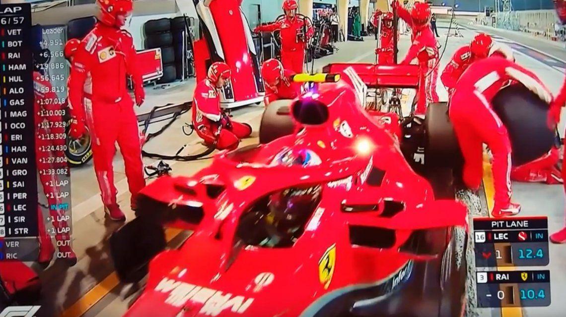 Fórmula 1: Raikkonen  atropelló a un mecánico y abandonó el Gran Premio de Bahréin
