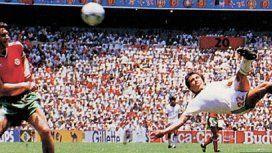 El gol de tijera de Negrete en el Mundial México 86 - Crédito:futboltotal.com.mx