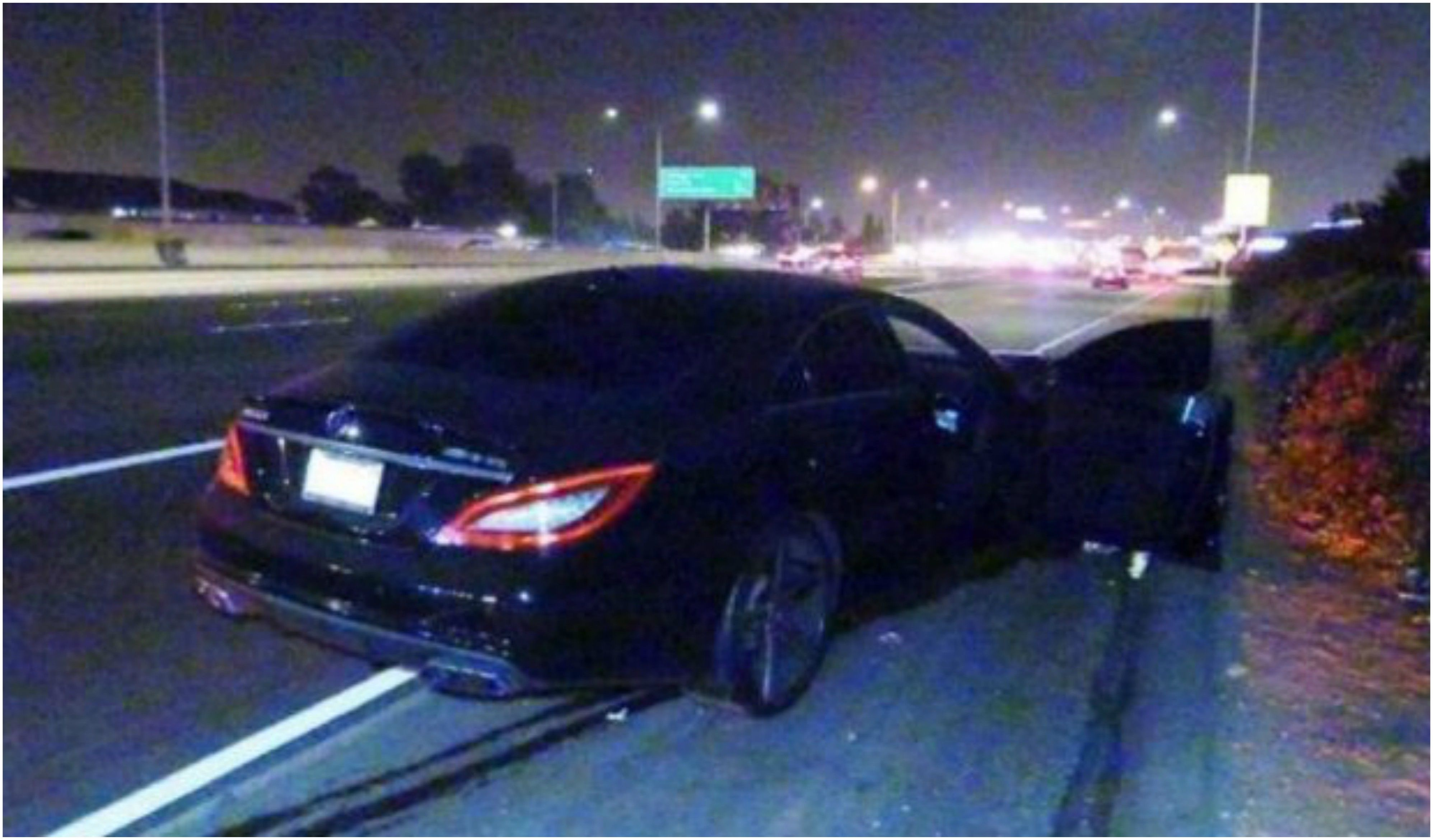 Así quedó el auto que arrolló a la pareja que tenía sexo en la ruta