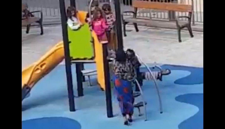 Una imagen del video que se viralizó por razones lamentables
