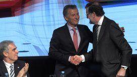 Macri y Rajoy se saludan con cordialidad