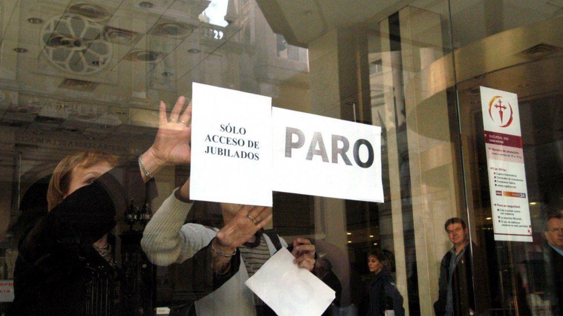 Bancarios anunciaron un nuevo paro de dos días para la semana que viene