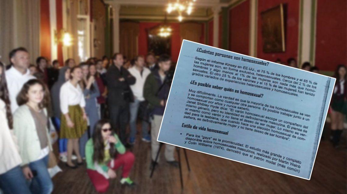 La homosexualidad atenta contra el plan de Dios, dice una escuela religiosa de Paraná