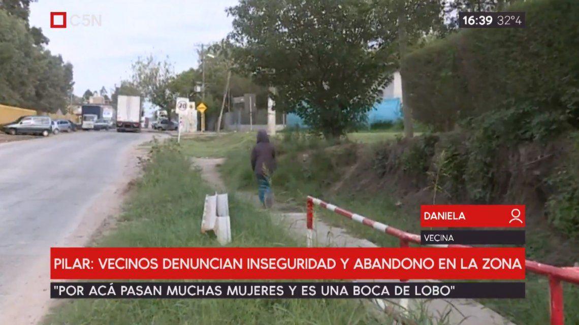 Pilar: vecinos denuncian inseguridad y abandono en la zona