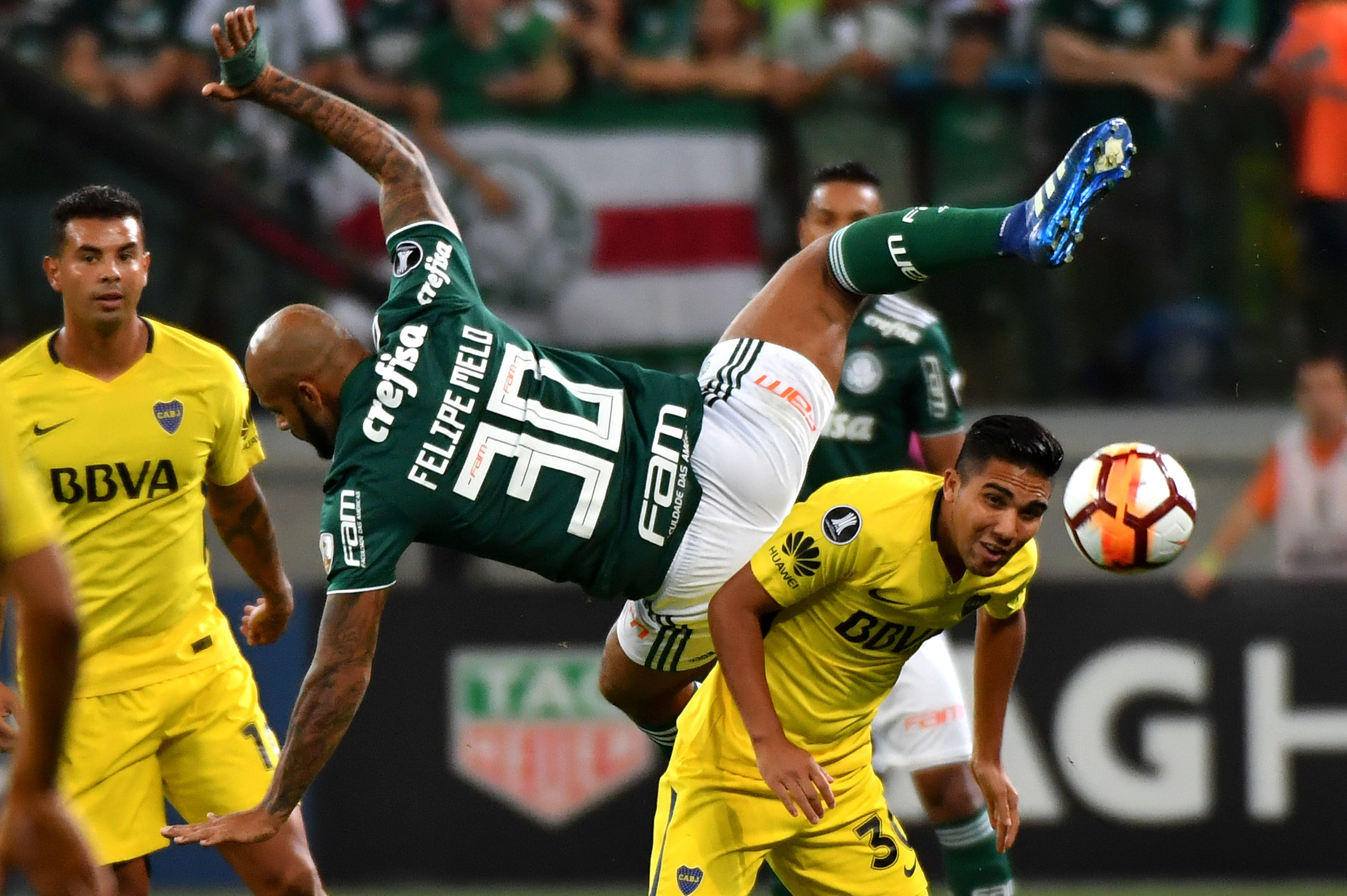 Palmeiras y Boca en Brasil