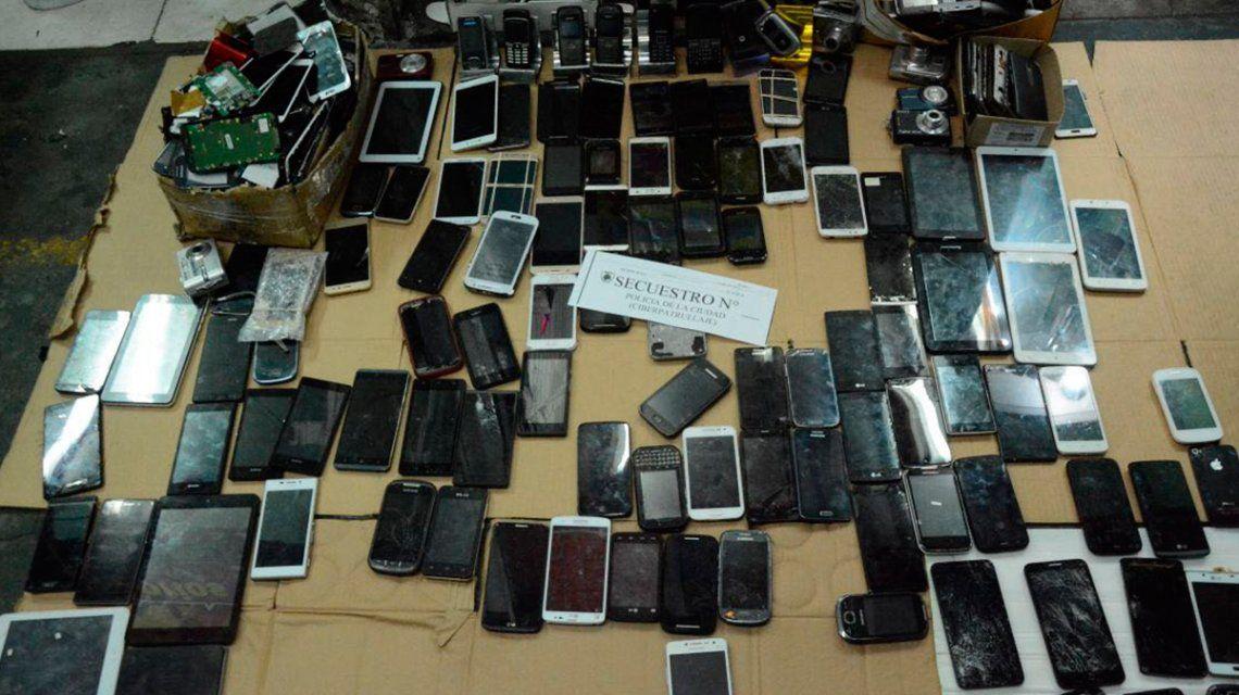 Encontraron más de 200 celulares robados