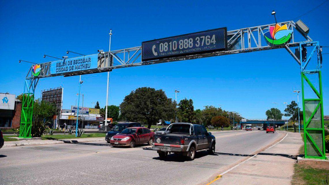 Escobar: las lectoras de patentes detectan 10 vehículos con pedido de secuestro por semana