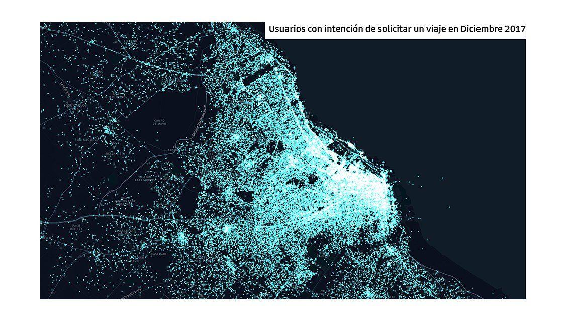 Extensión del servicio de Uber en Buenos Aires y el área metropolitana