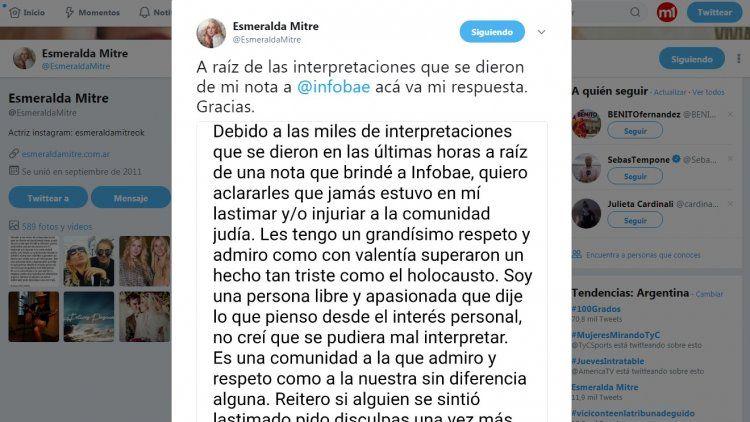 El comunicado final de Esmeralda Mitre