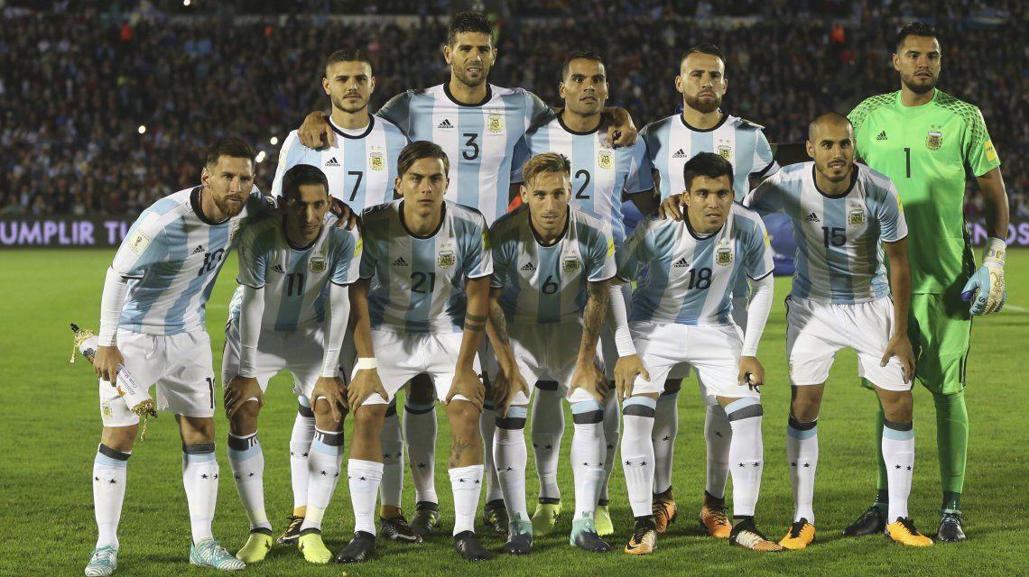 Así formó Argentina en las Eliminatorias Sudamericanas 2018