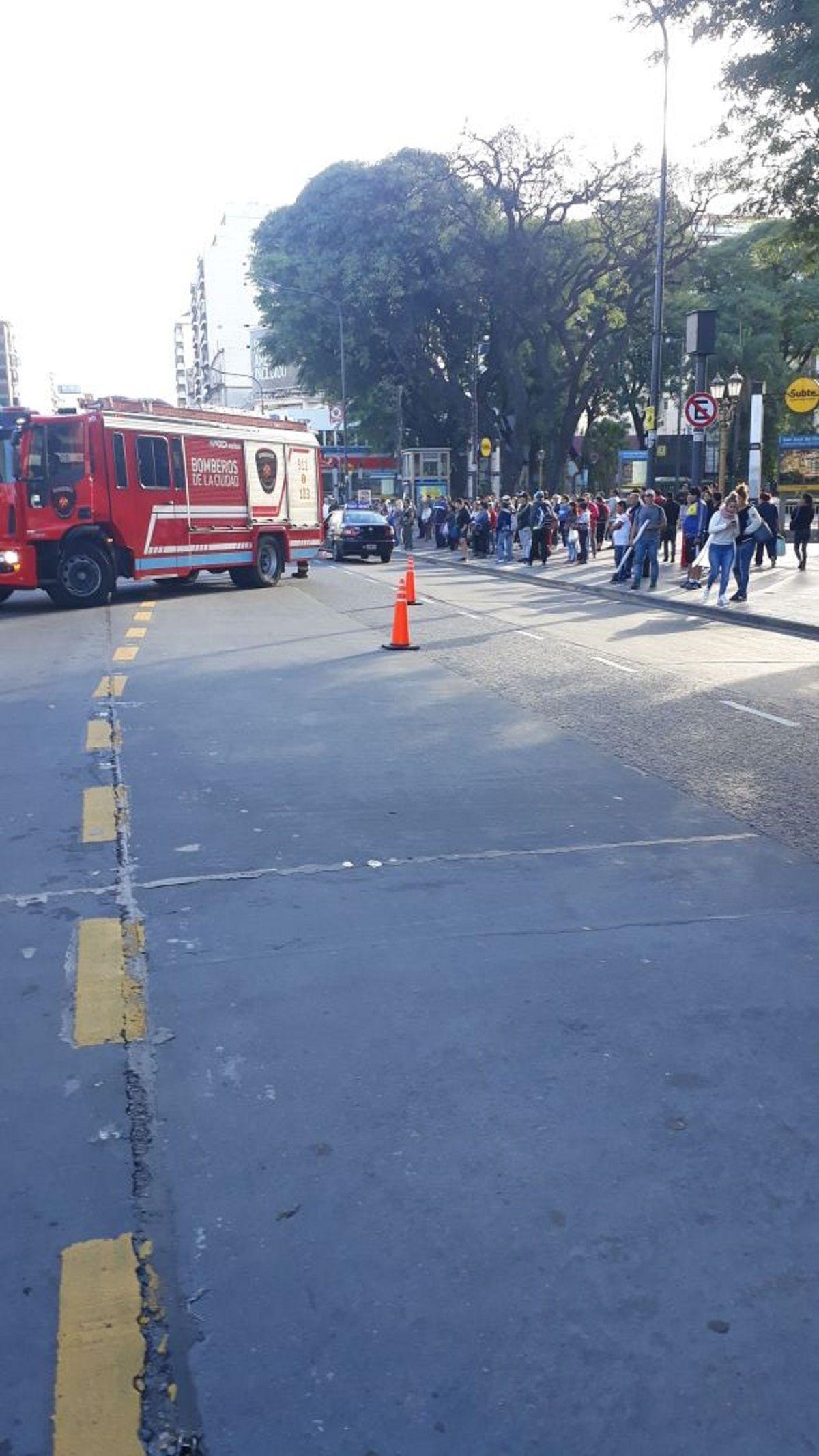 Accidente en Plaza Flores