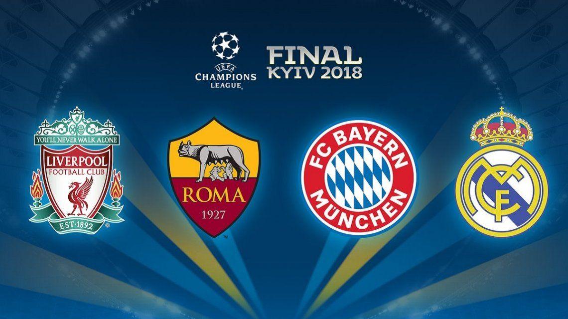 Las semifinales de la Champions League: Bayern Munich vs Real Madrid y Liverpool vs Roma