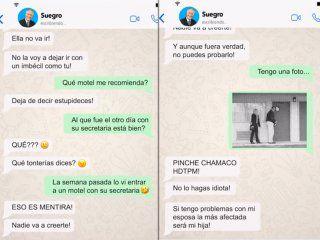 un chico chantajea a su suegro por una infidelidad y la charla por whatsapp se viraliza